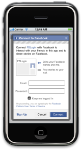 iPhone Facebook Connect